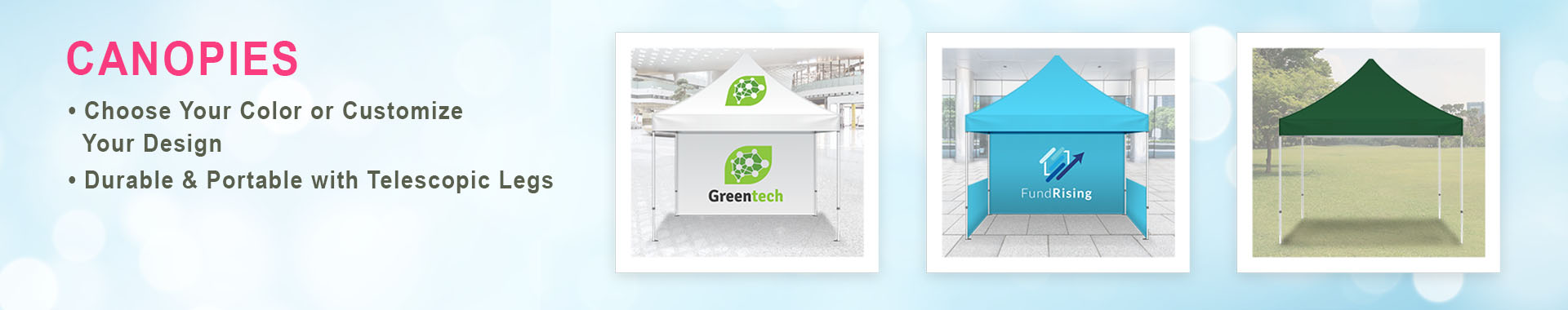 Category Canopies Banner