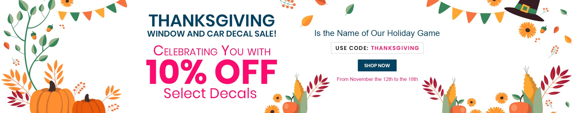 Celebrating You with 10% Off Select Decals