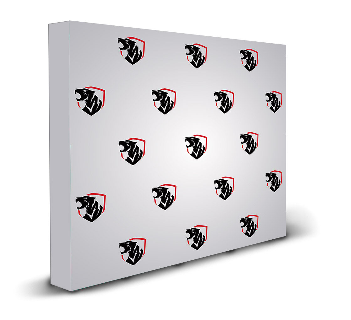 10x8ft step and repeat fabric popup straight display bos