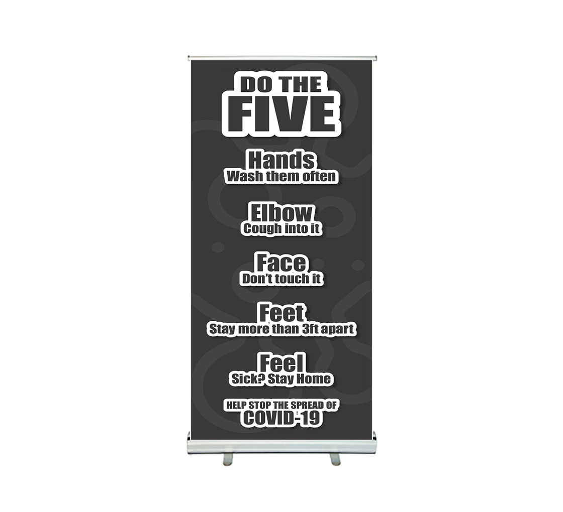 bbcovs144 do the five help stop spread covid 19 roll up banner stands 001