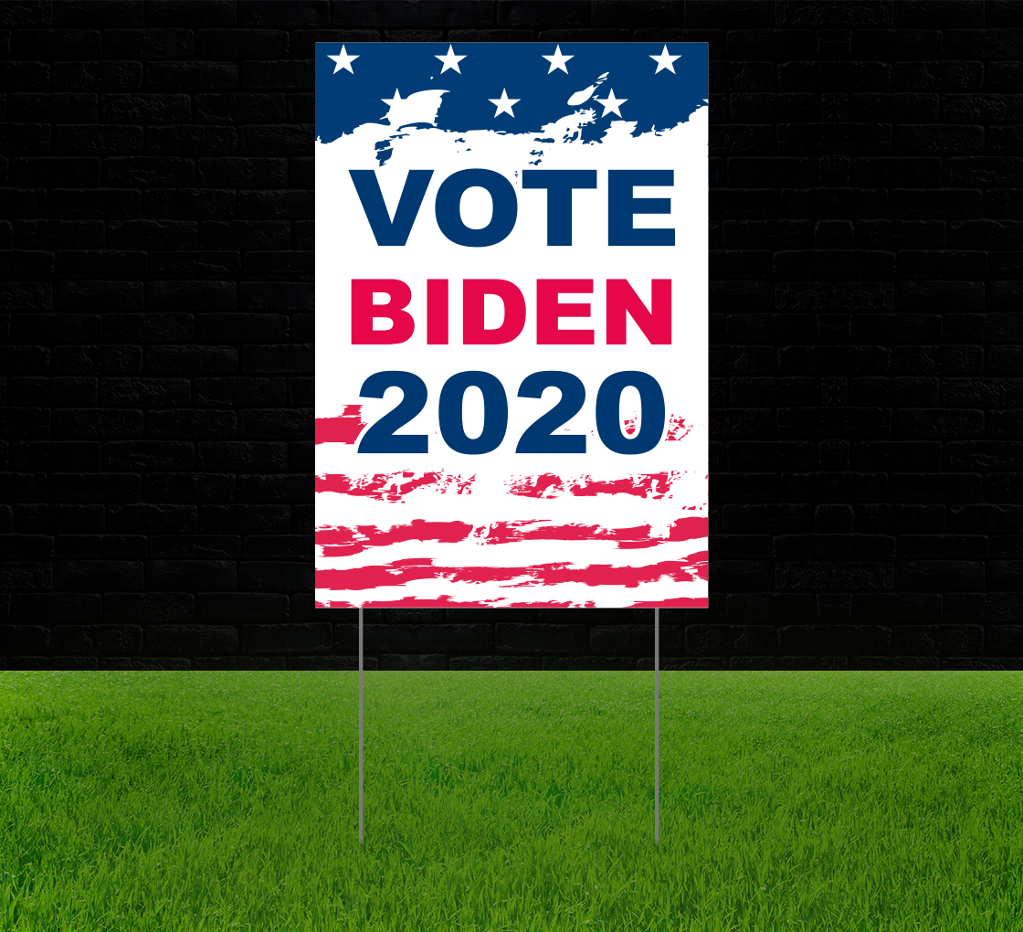Biden Reflective Yard Signs Custom Political Lawn Signs And Banners