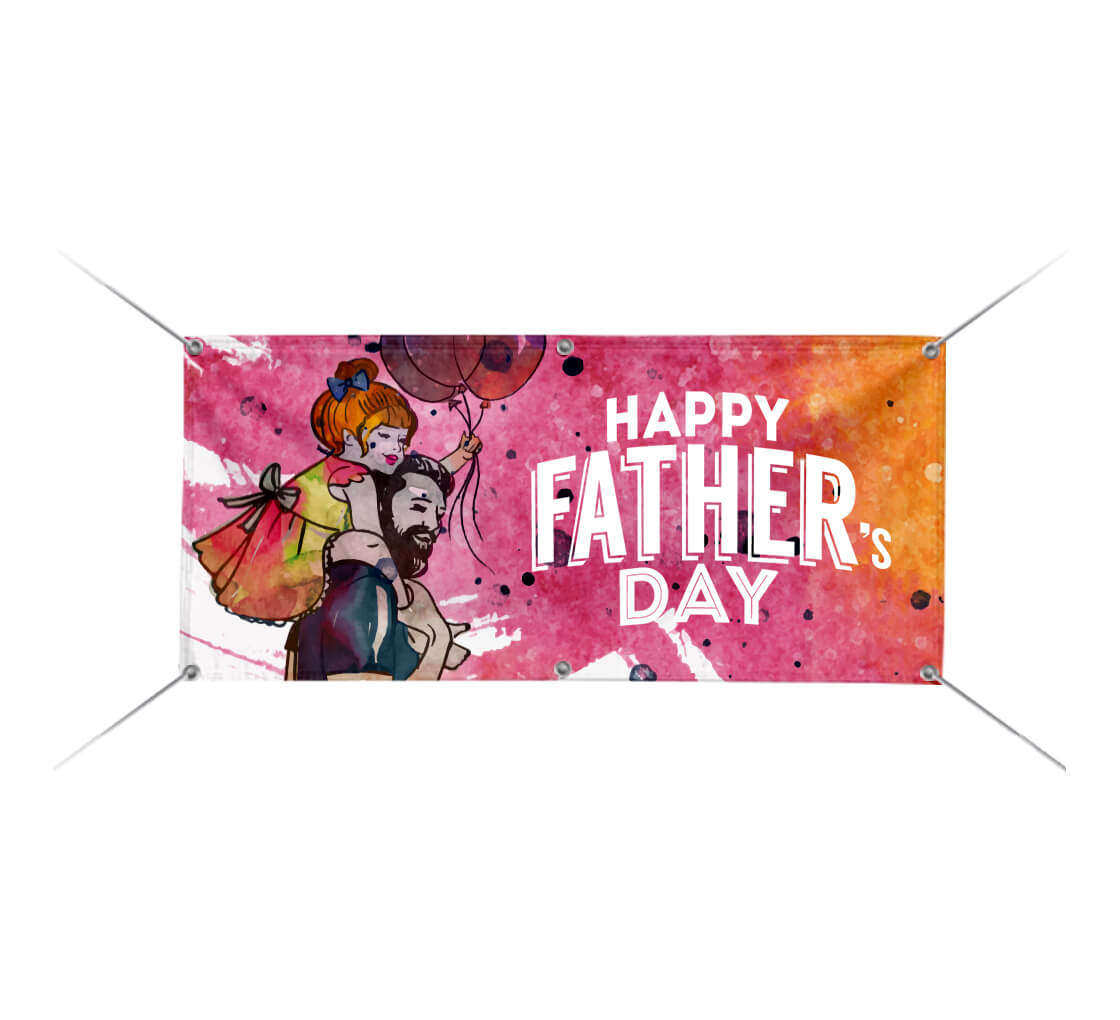 Happy Fathers Day Personalized Banner