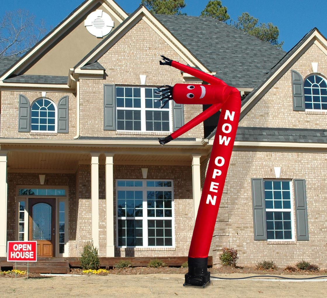 now open inflatable tube man 3