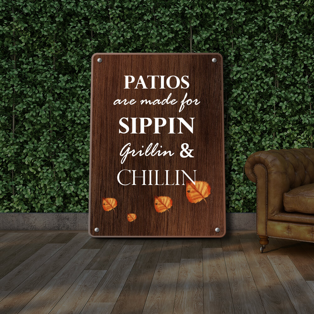 Custom Patio Signs And Signage