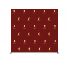 8 ft x 8 ft Step and Repeat Straight Pillow Case Backdrop