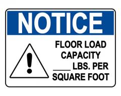 OSHA CAUTION Custom Load Capacity - Lbs Sign