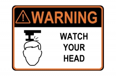 ANSI WARNING Watch Your Head Sign