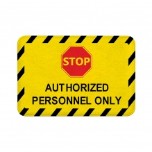 Authorized Personnel Only Floor Mats