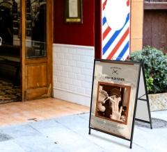 Barber Shop Metal A Frames