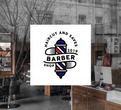 Barber Shop Window Decals Opaque