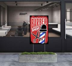 Barber Shop Yard Signs