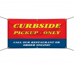 Curbside Pick Up Only Vinyl Banners