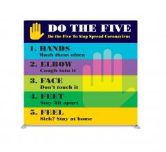 Do the Five To Stop Spread Coronavirus Straight Pillow Case Backdrop