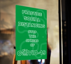 Practice Social Distancing Stop the Spread Window Clings