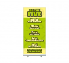 Do the Five To Stop Spread Coronavirus Roll Up Banner Stands