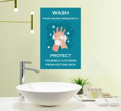 Covid-19 Prevention Wash your Hands Vinyl Posters
