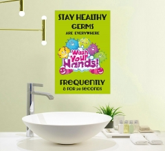 Stay Healthy Germs Everywhere Wash your Hands Vinyl Posters