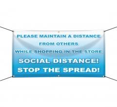 Please Maintain Distance Vinyl Banners