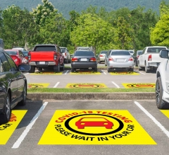 Covid-19 Testing Please Wait in your Car Floor Decals