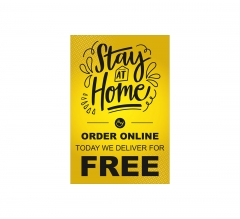 Stay at Home Order Online Vinyl Posters