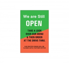 We are Still Open Window Decals