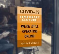 Covid-19 Temporary Closure Window Decals