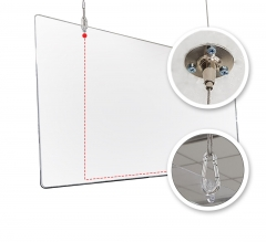 Hanging Sneeze Guard - Clear Acrylic