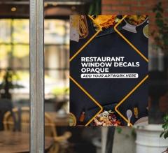Restaurant Window Decals Opaque