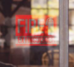 Fire Extinguisher Clear Window Decals