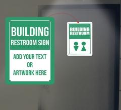 Reflective Building Restroom Signs
