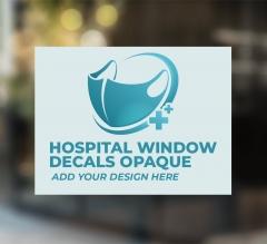 Hospital Window Decals Opaque