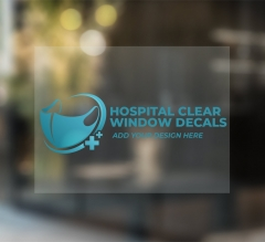 Hospital Clear Window Decals