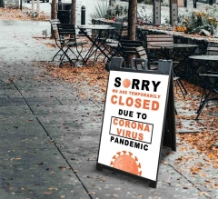 Sorry We are Temporarily Closed Signicade Black