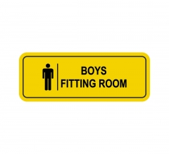 Boy's Fitting Room Sign