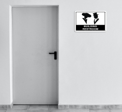 Building Restroom Signs