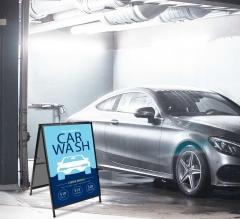 Car Wash Metal A Frames
