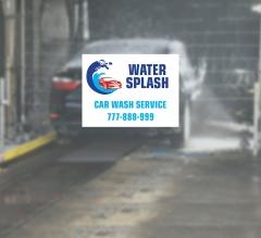 Car Wash Window Decals Opaque