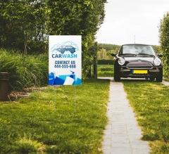 Car Wash Yard Signs