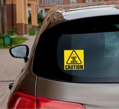 Caution Car Signs