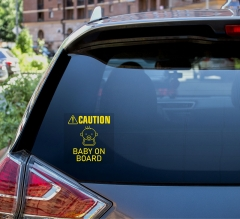 Caution Car Signs Clear