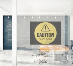 Caution Clear Window Decals