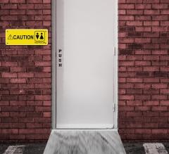 Caution Restroom Signs