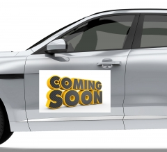 Coming Soon Car Signs