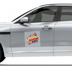 Coming Soon Car Signs Clear