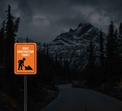 Reflective Construction Street Signs