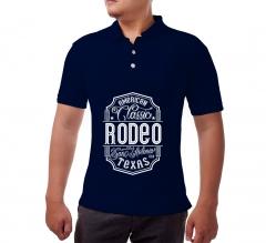 Custom Blue Polo Shirt - Printed