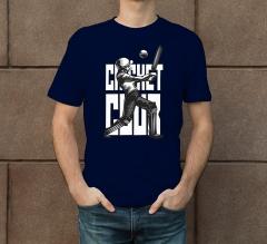 Blue Cotton Printed T-Shirt - Crew Neck