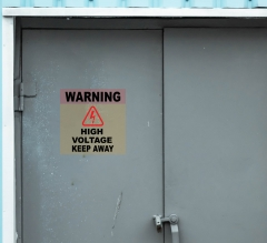 Danger Clear Surface Decals