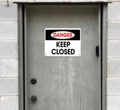 Danger Restroom Signs