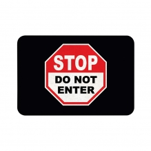 Do Not Enter Floor Mats